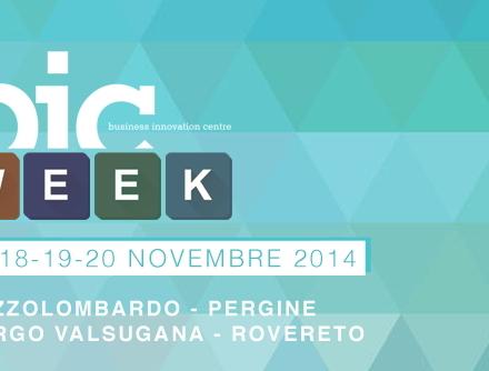 Innovie, Trentino Sviluppo e BIC per la BicWEEK