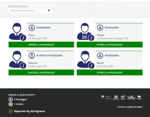 Carpooling Flootta Hub per Campiglio, Comano e Giudicarie